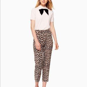 Kate Spade Classic Cigarette Leopard Print Pant